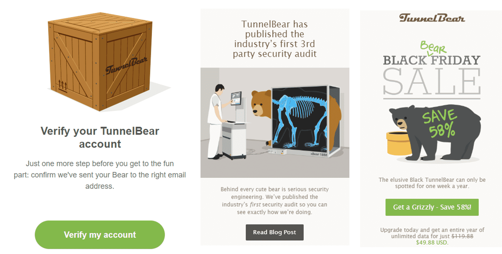 Growth Hacking-Tunnel Bear Emails
