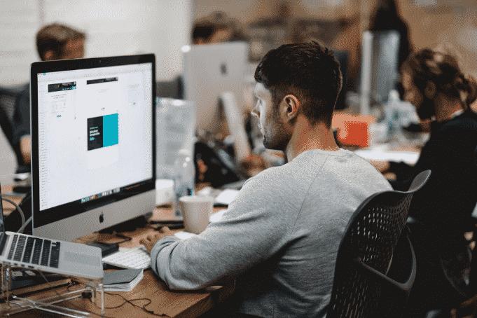 Graphic Designer Creating Graphics