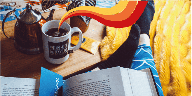 coffee and a book for blue monday