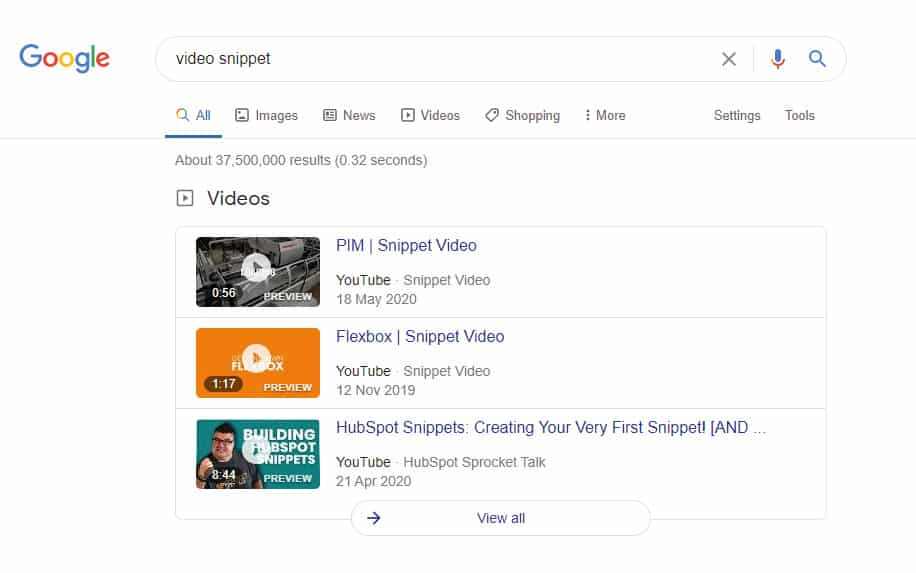 SEO strategy 2021 video snippet featured