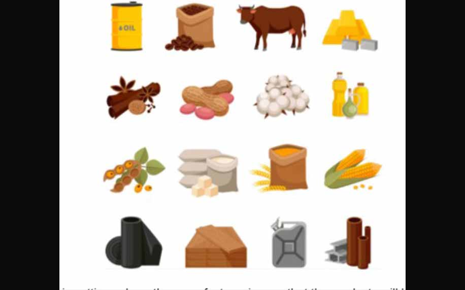 a chart of all the different commodities that are used for manufacturing consumer products