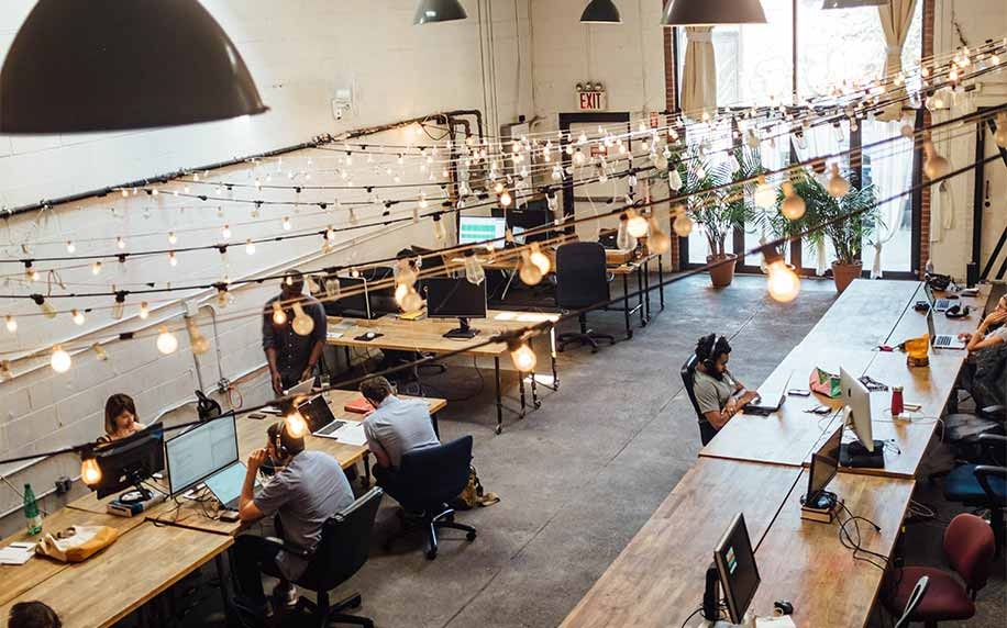A group of freelancers working remotely for a marketing agency