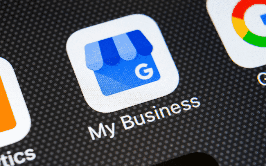 Google My Business app on phone for local SEO