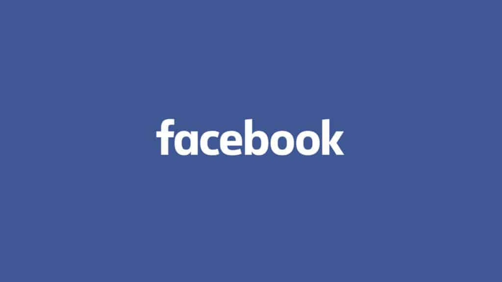 image of facebook typography on blue background