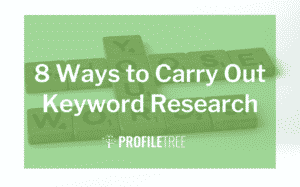 image for the blog 8 ways to carry out keyword research