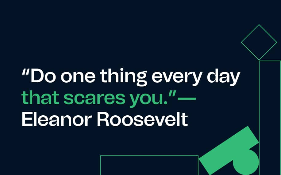 a quote by eleanpr roosevelt