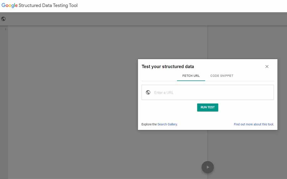 homepage for Google's Structured Data Testing Tool.