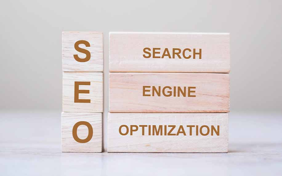 wooden blocks spelling out seo fully as search engine optimisation
