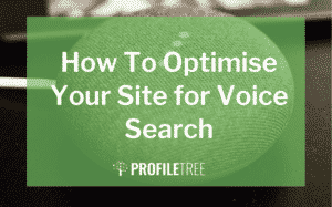 image for the how to optimise your site for voice search blog
