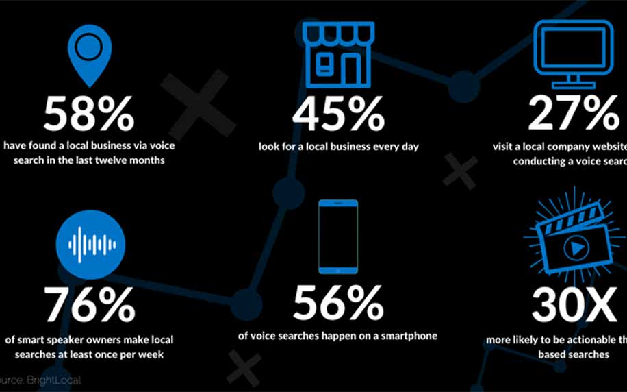 voice search statistics infographic
