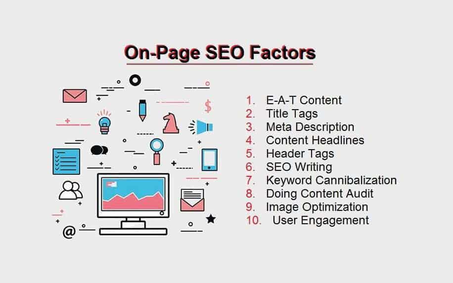 Google BERT update onpage infographic