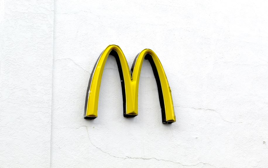 A photo of McDonald's iconic golden arches logo
