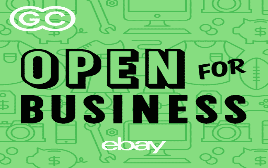 An image of the Open for Business podcast Logo hosted by eBay
