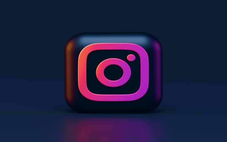 Instagram logo in dark mode style
