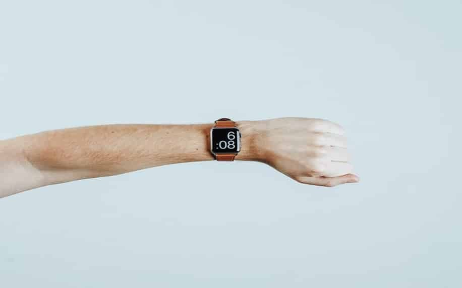 Image displaying a smartwatch to denote the concept of time.