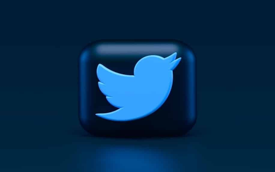 Image showing a futuristic rendering of the Twitter logo to denote innovation.